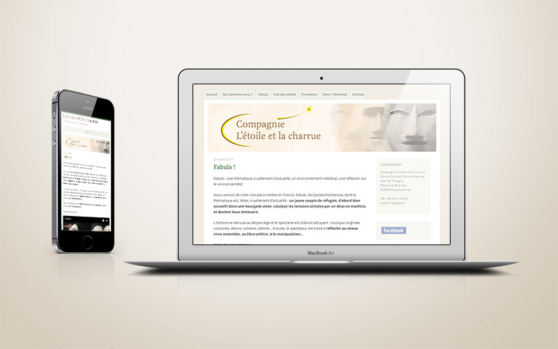 Site internet wordpress théâtre