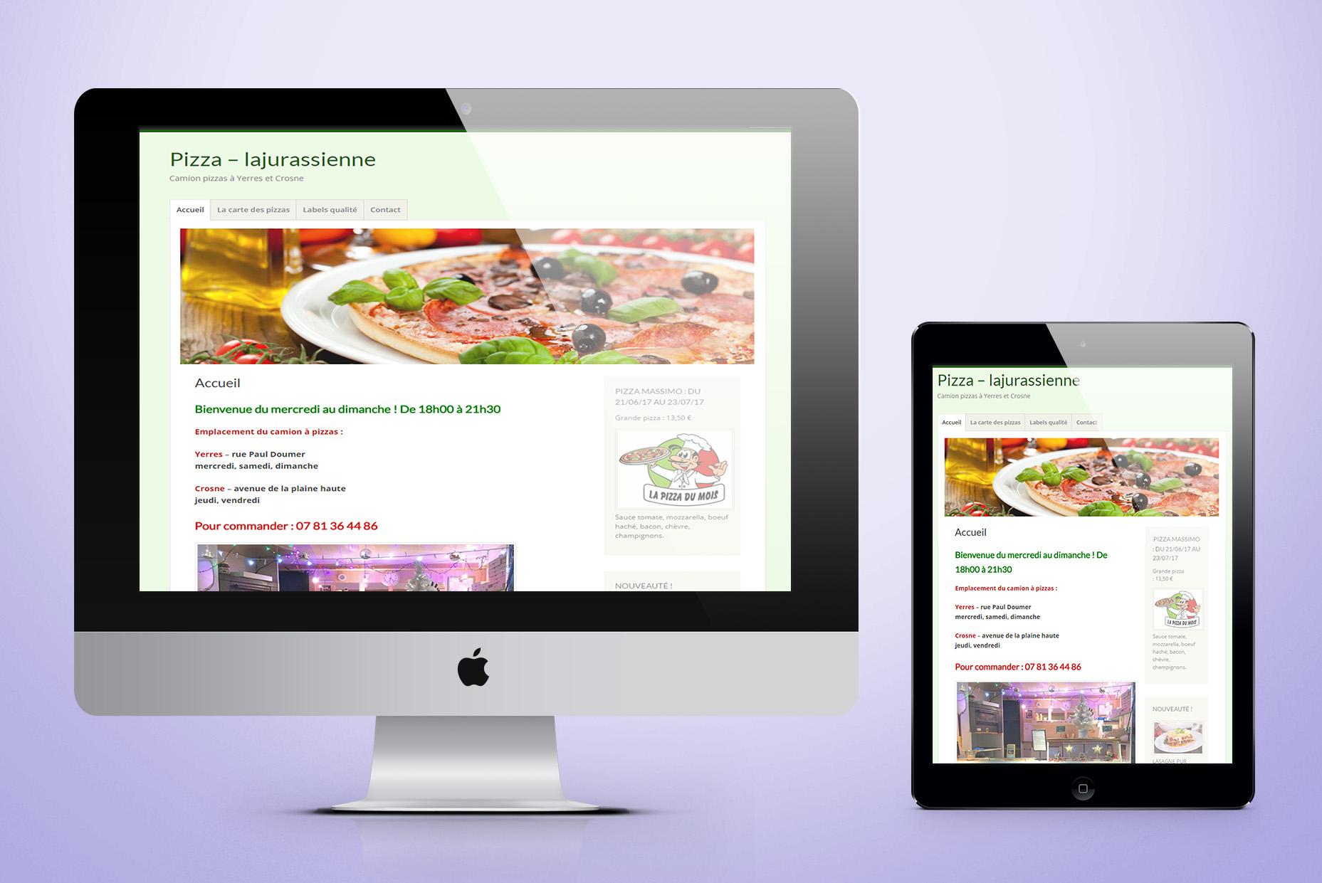 site internet pizzaiolo
